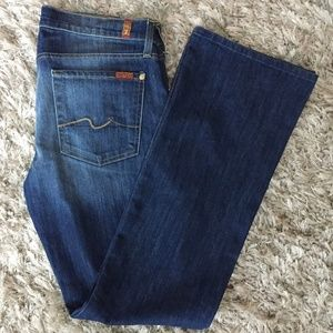 NWOT 7 For All Mankind Faded Dark Bootcut Jeans